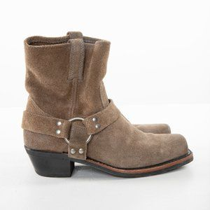 FRYE Suede Harness Boots